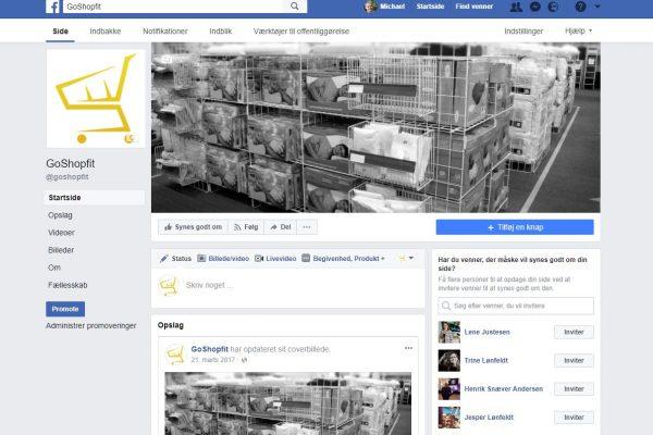 Goshopfit facebook Seite