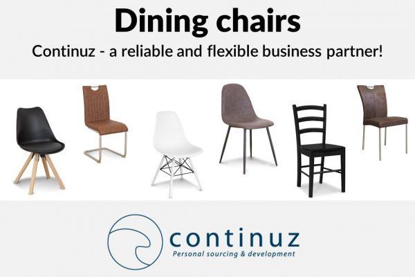Verkaufspräsentation mit Esstischstühlen
