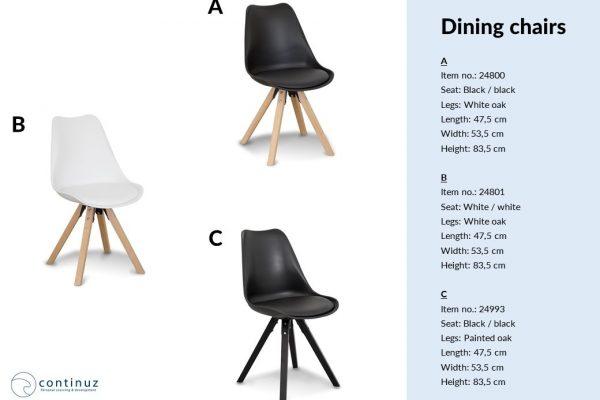 Verkaufspräsentation mit Stühlen